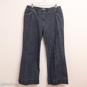 J. Jill Wide Leg Blue Jeans Size 14